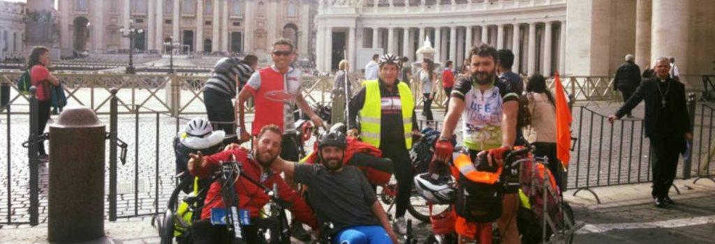 La fine del cammino in handbike di Scidurlo lungo la via Francigena