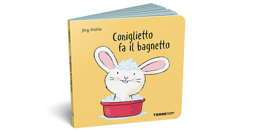 Coniglietto fa il bagnetto - render