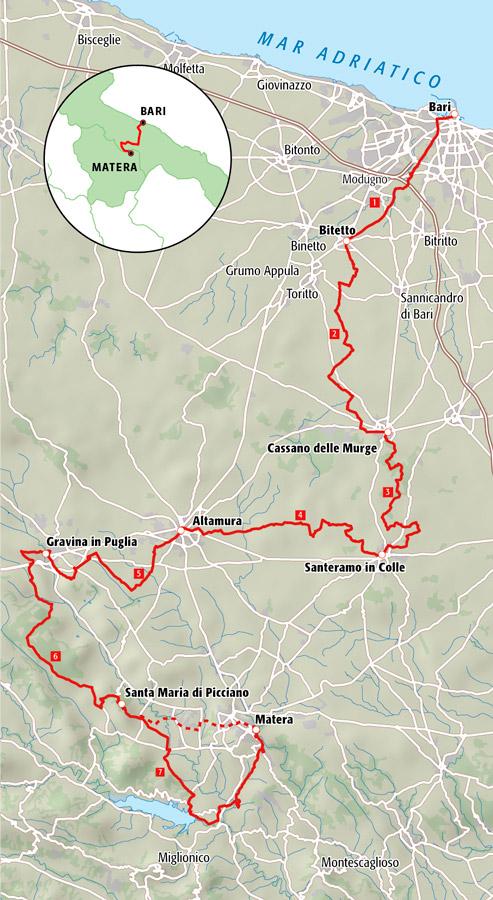 Il Cammino Materano - Mappa
