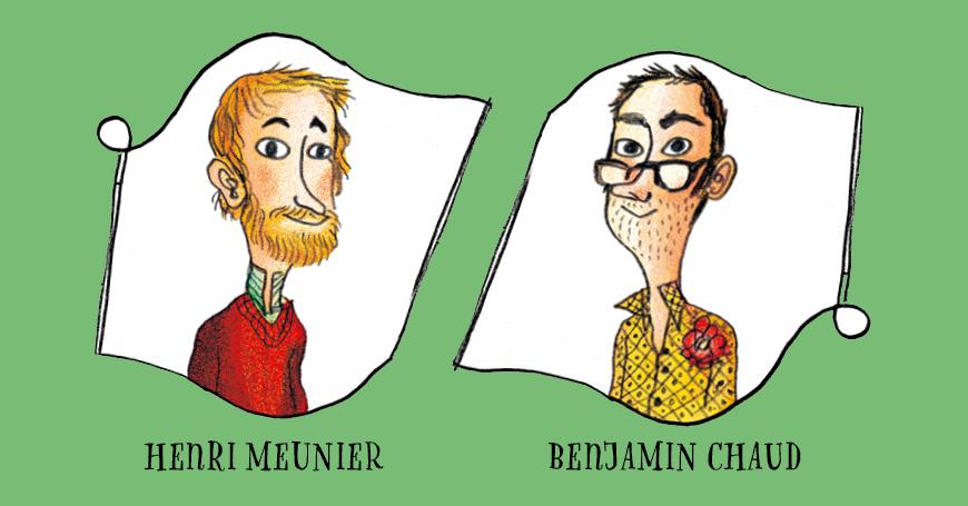Henri Meunier e Benjamin Chaud, autori della serie Nino&Taddeo